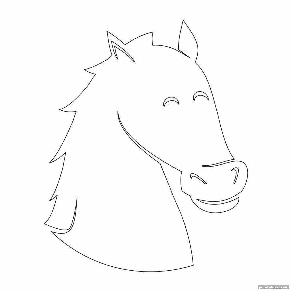 cute horse head template printable