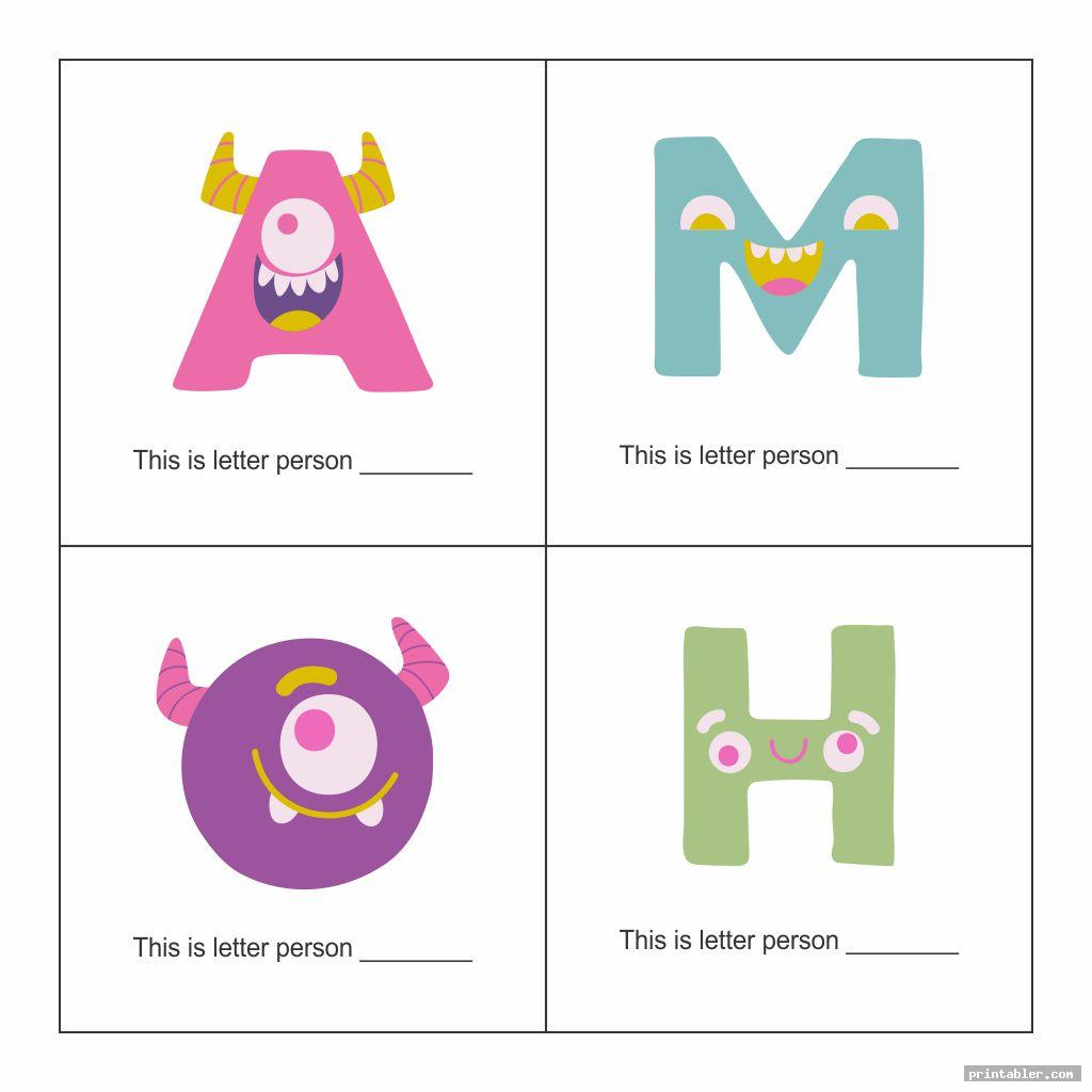 cute letter people printable worksheets