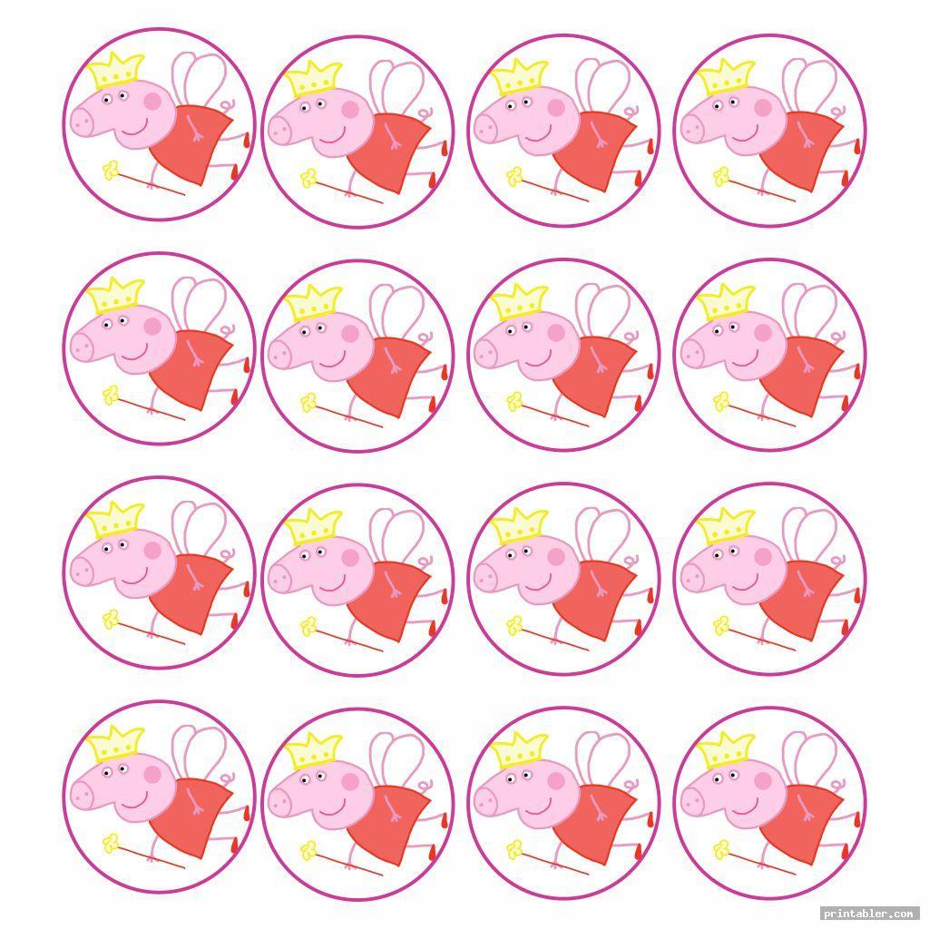 Peppa Pig Cupcake Toppers Printable