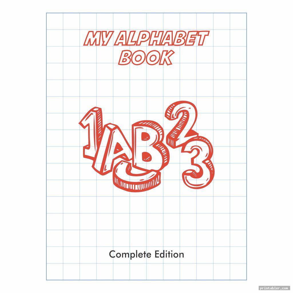 cute printable alphabet book cover
