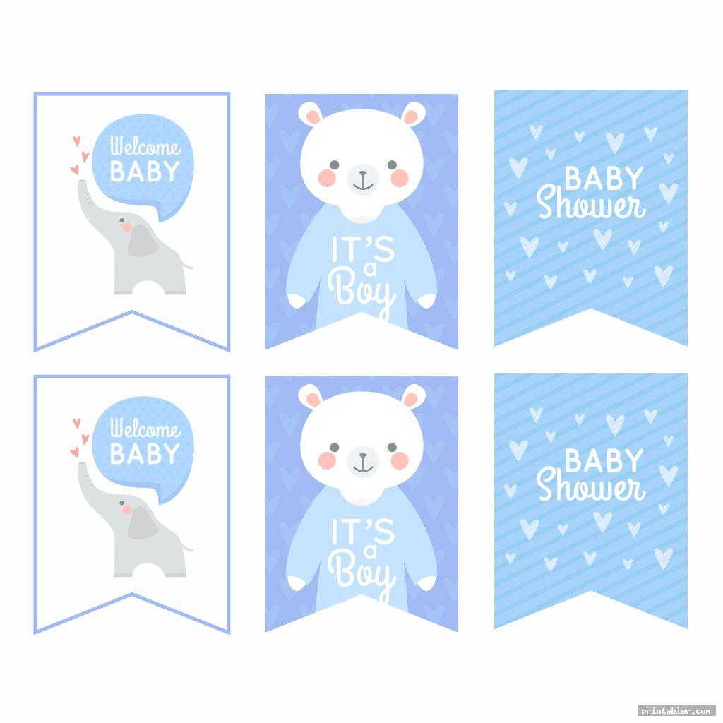 cute printable baby shower banner template