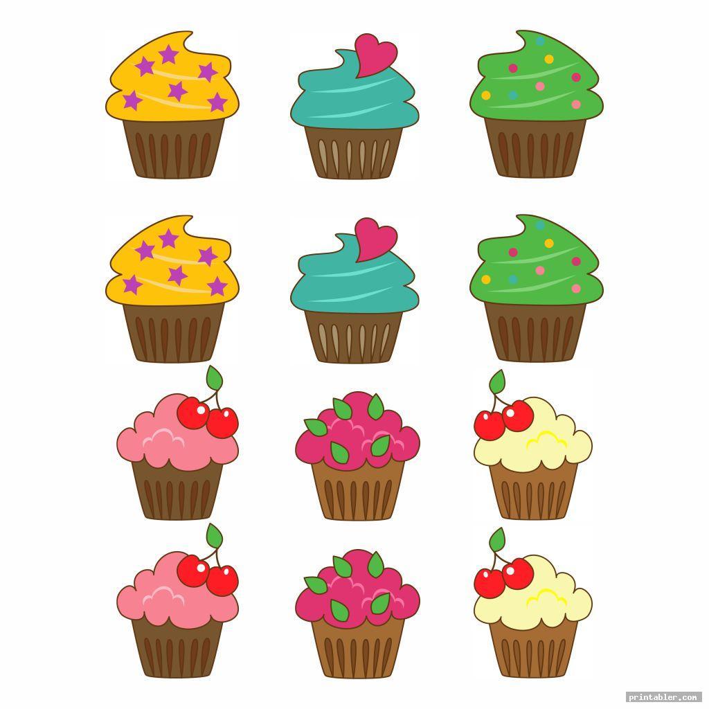 cute printable birthday chart cupcake