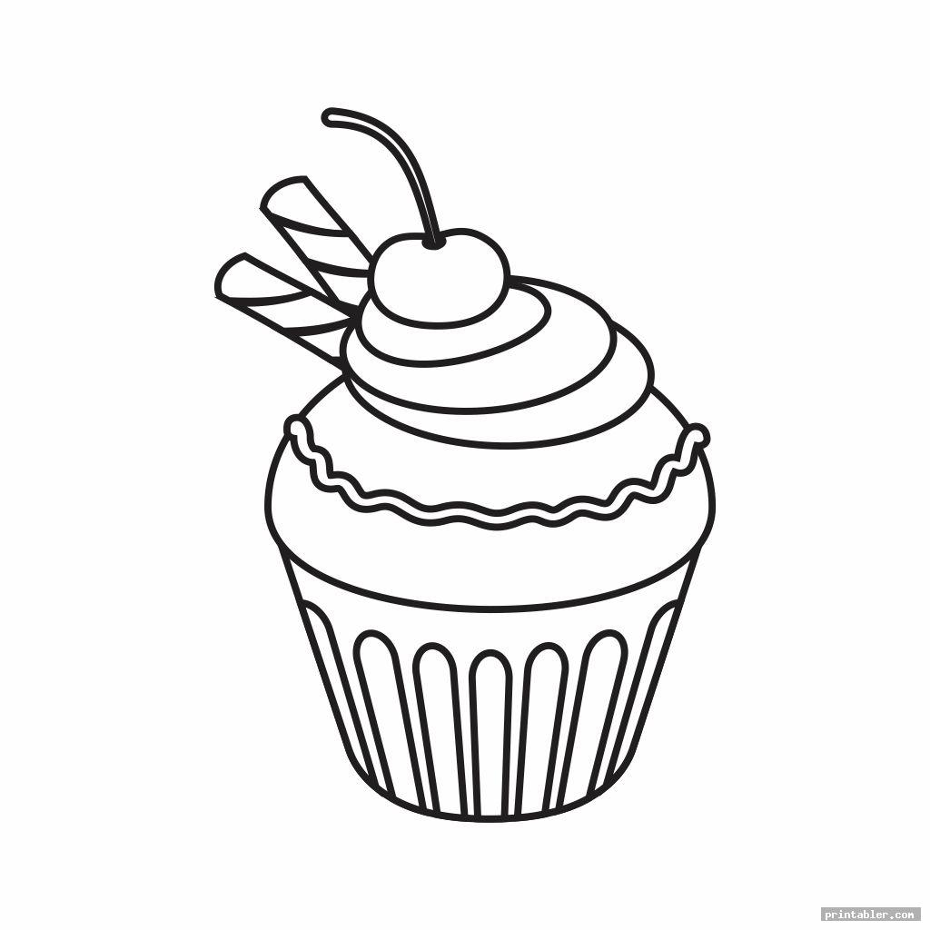 cute printable birthday cupcake outlines