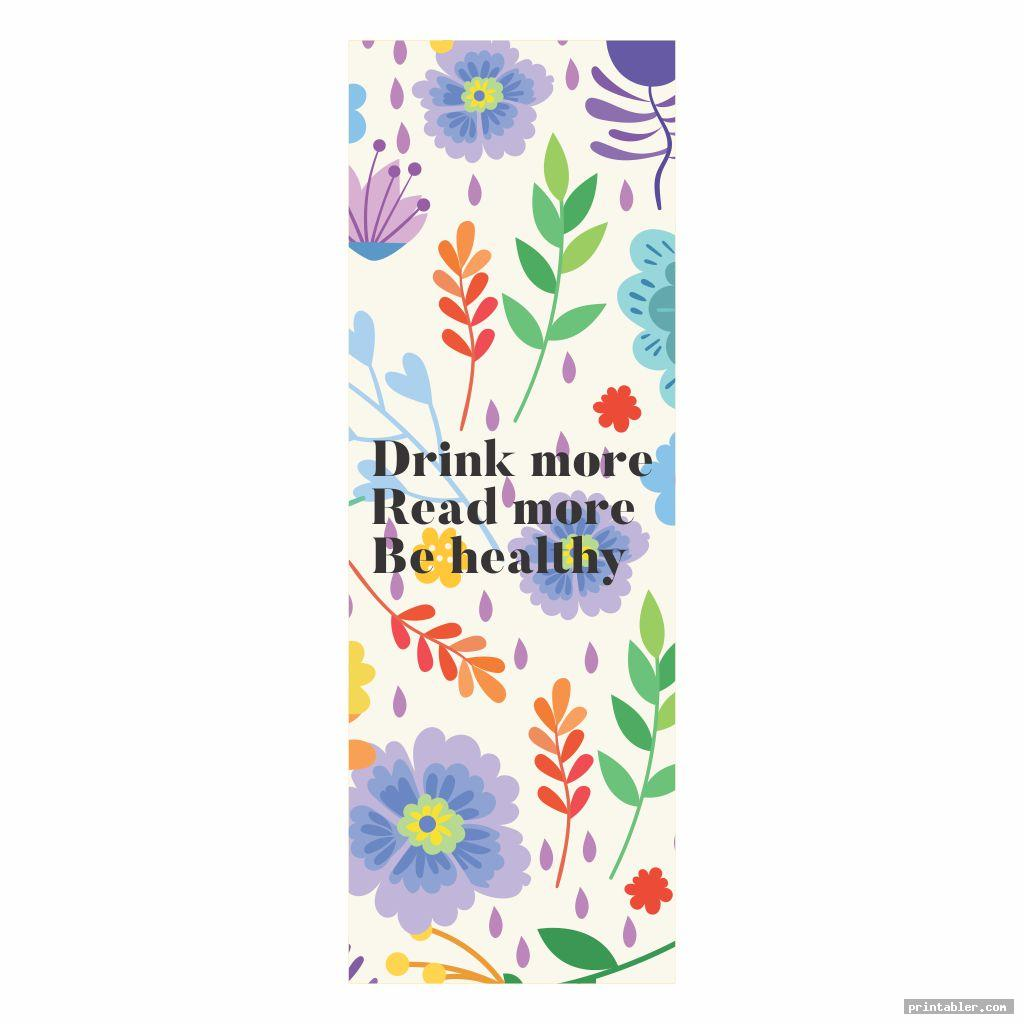Printable Bookmarks with Flowers with Color