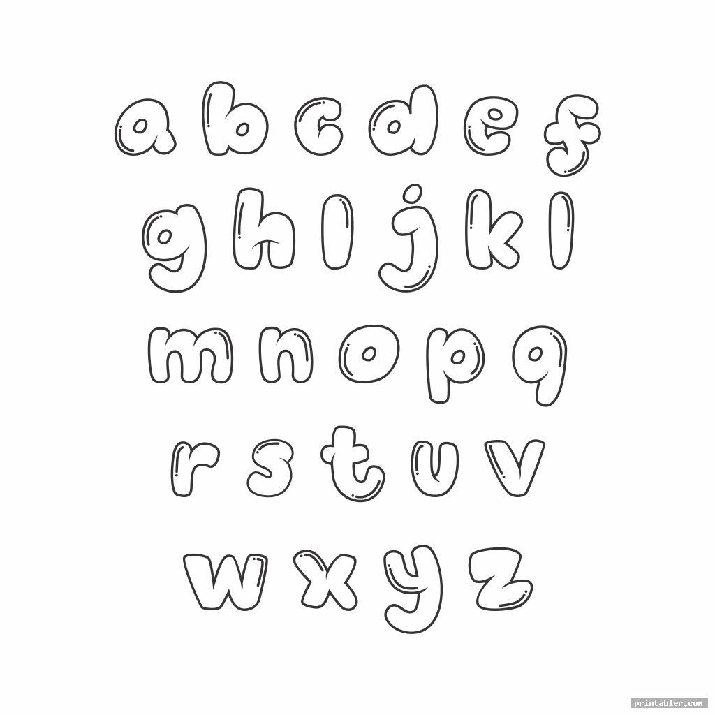 cute printable bubble letters image free