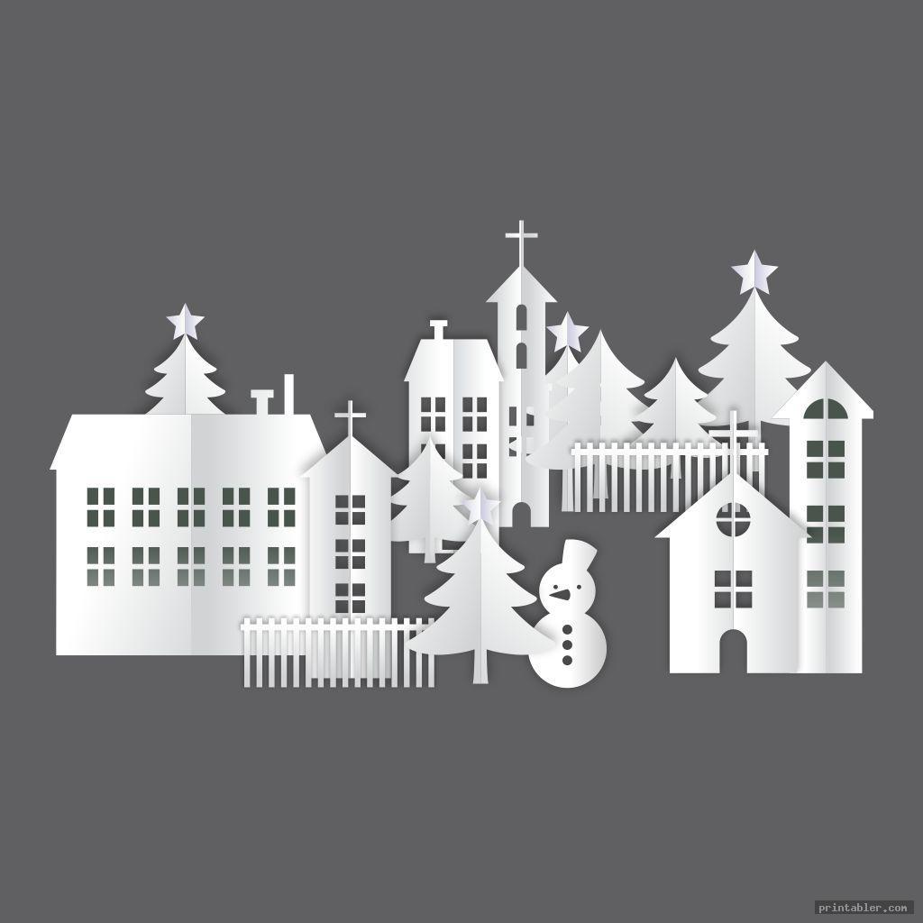 cute printable christmas village houses