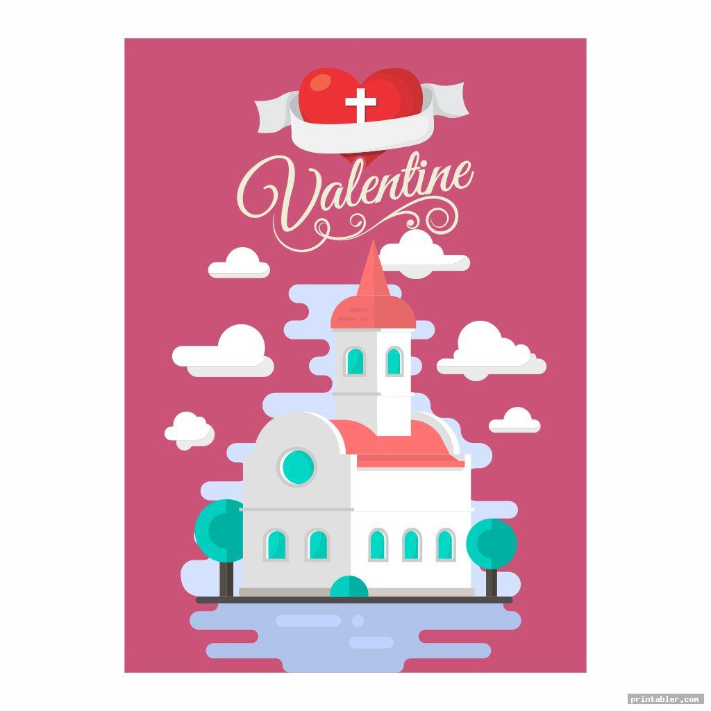 cute printable church flyers valentine