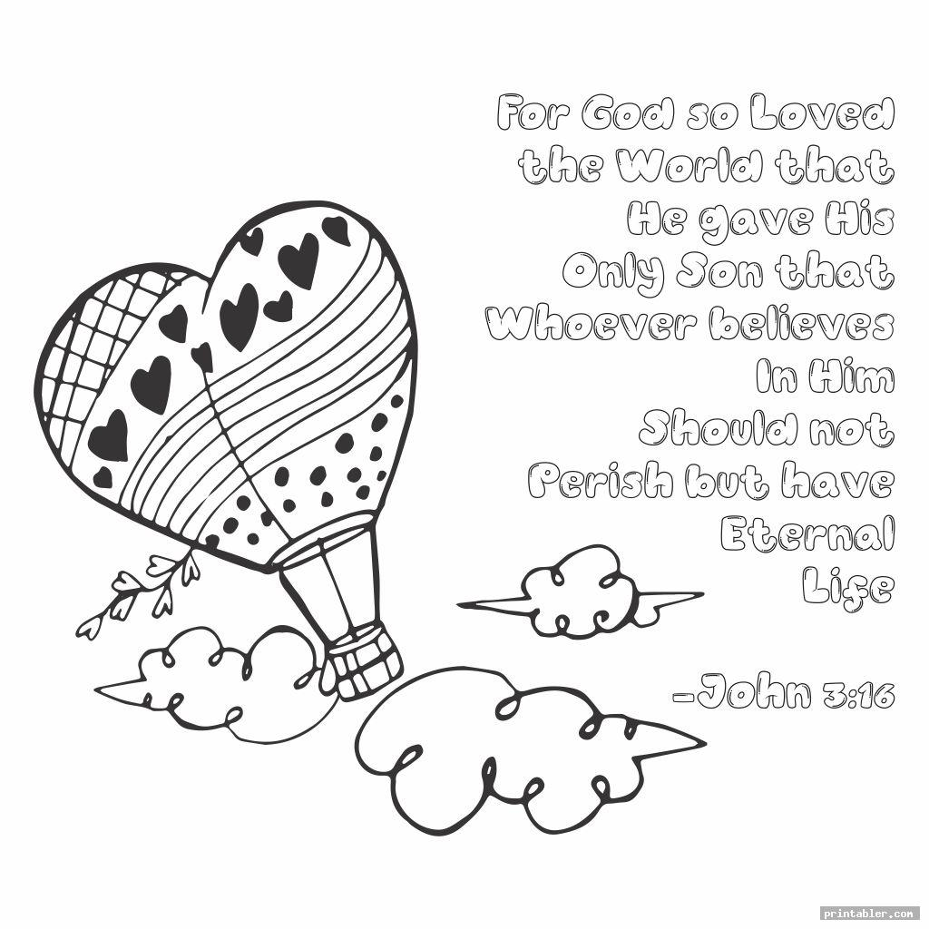 cute printable coloring page with john 3 16