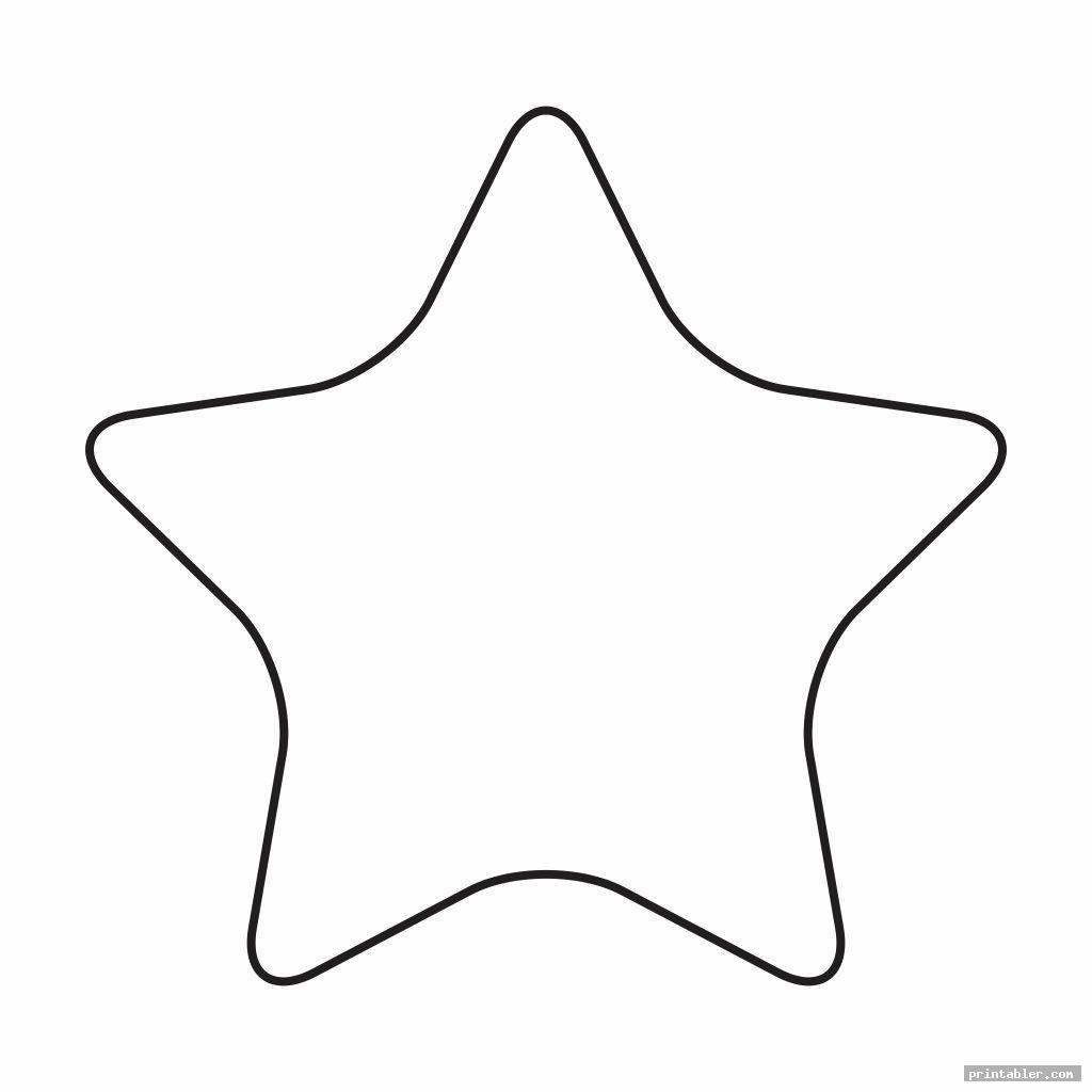 cute printable cut out star shape