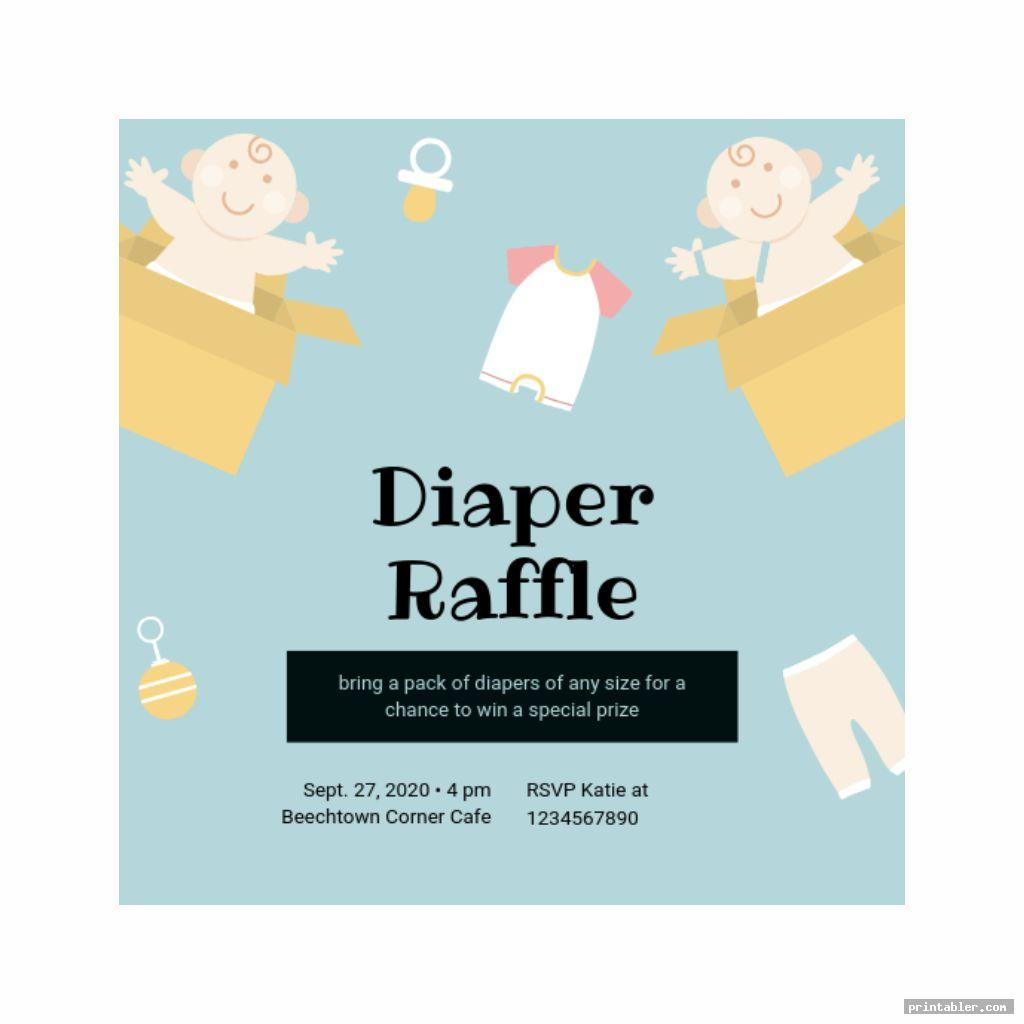 Printable Diaper Raffle Sign