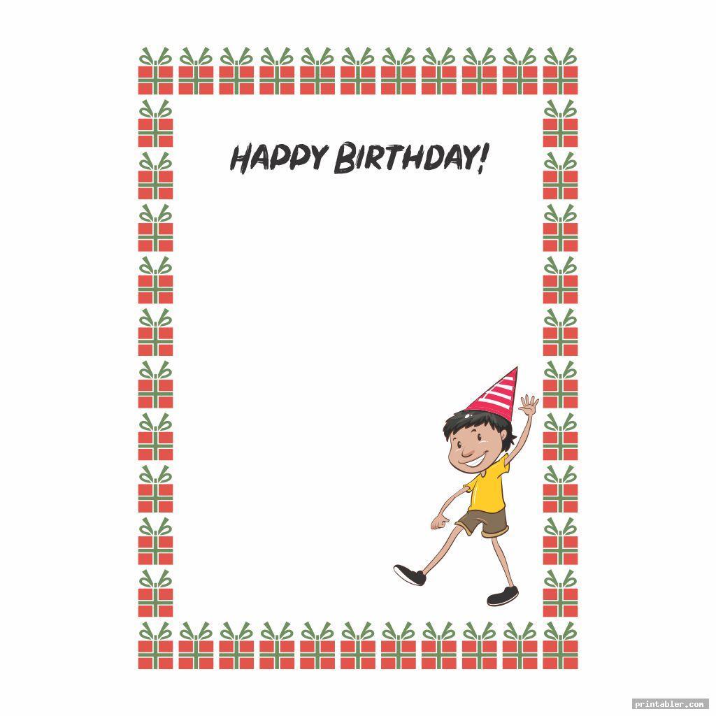 cute printable happy birthday borders