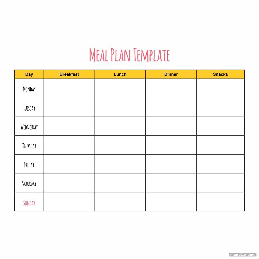 cute printable meal planner calorie charts
