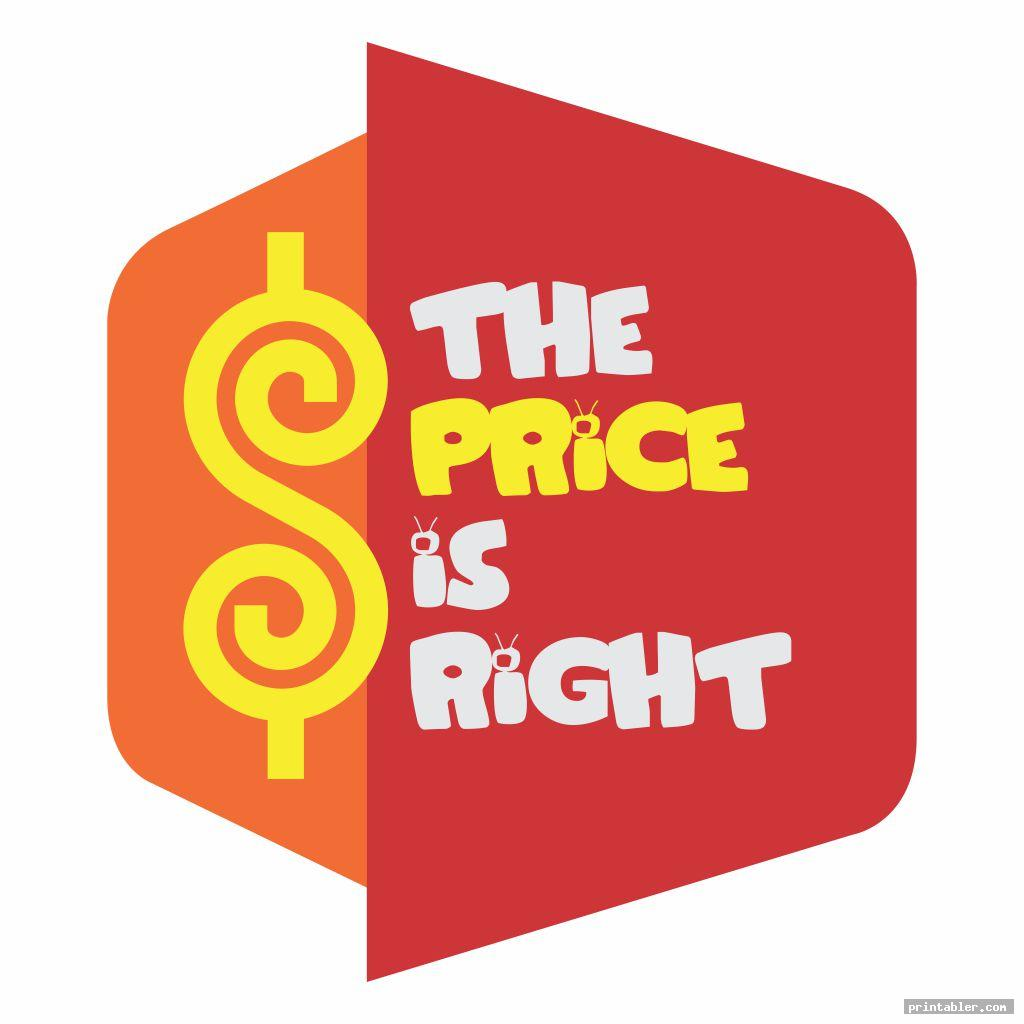 cute printable price is right logo