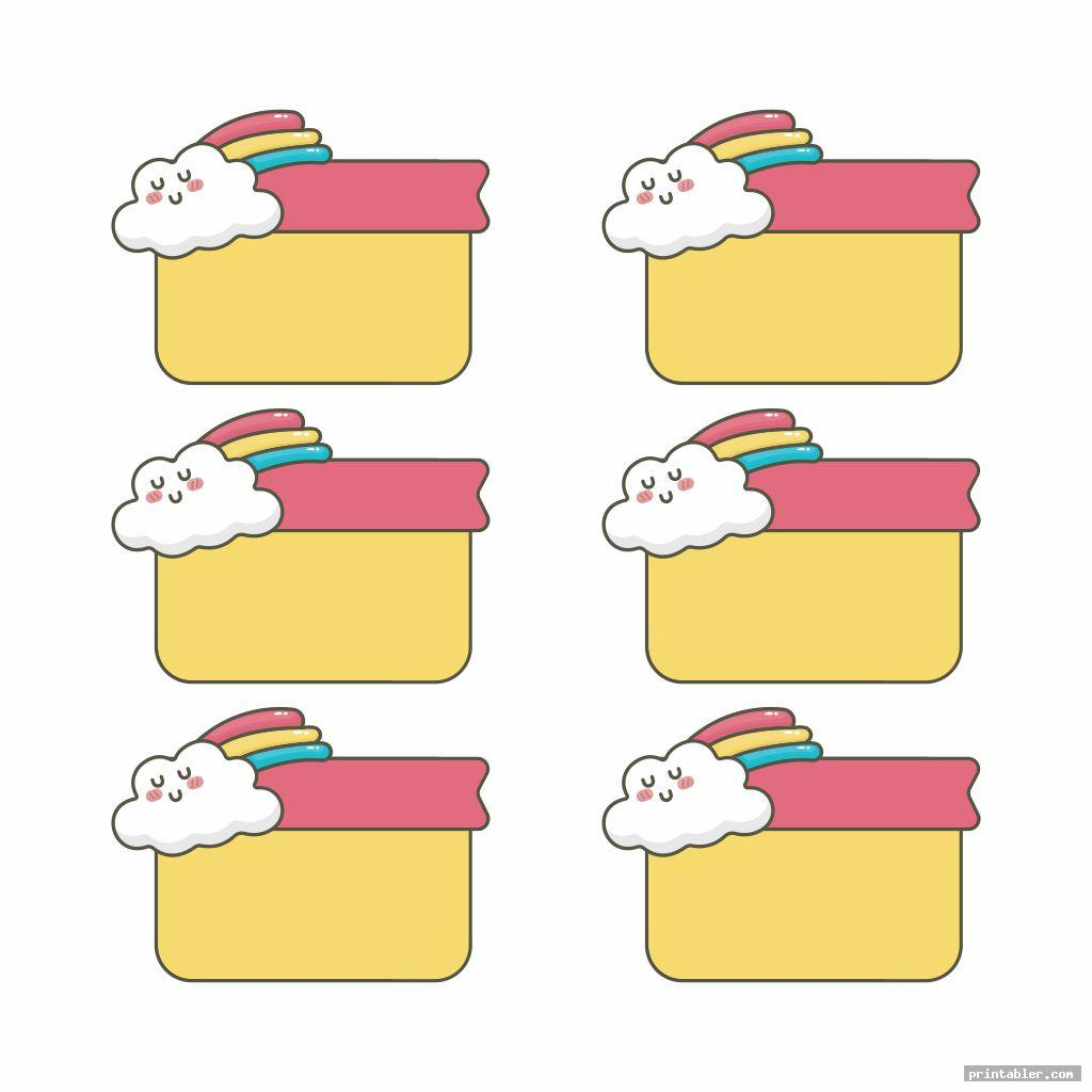 cute printable rainbow labels