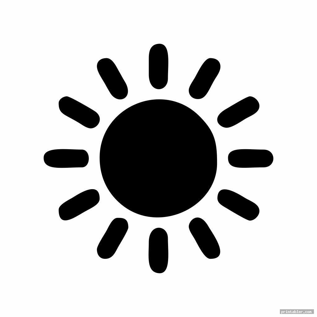 cute printable sun patterns