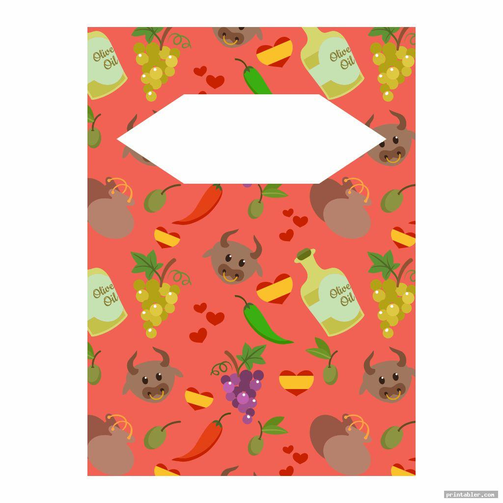 cute spanish printable binder covers for boys