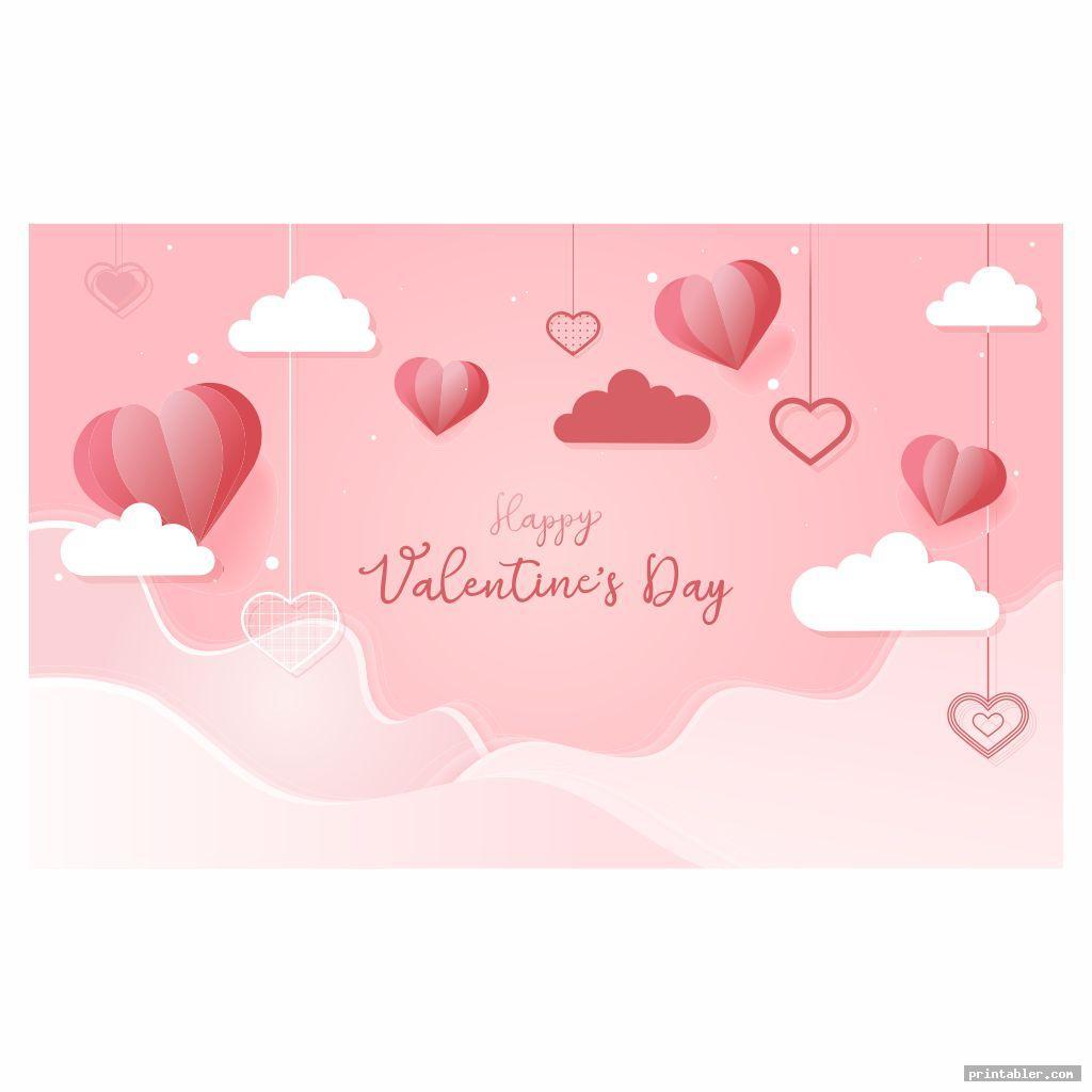 cute valentine flyer template printable