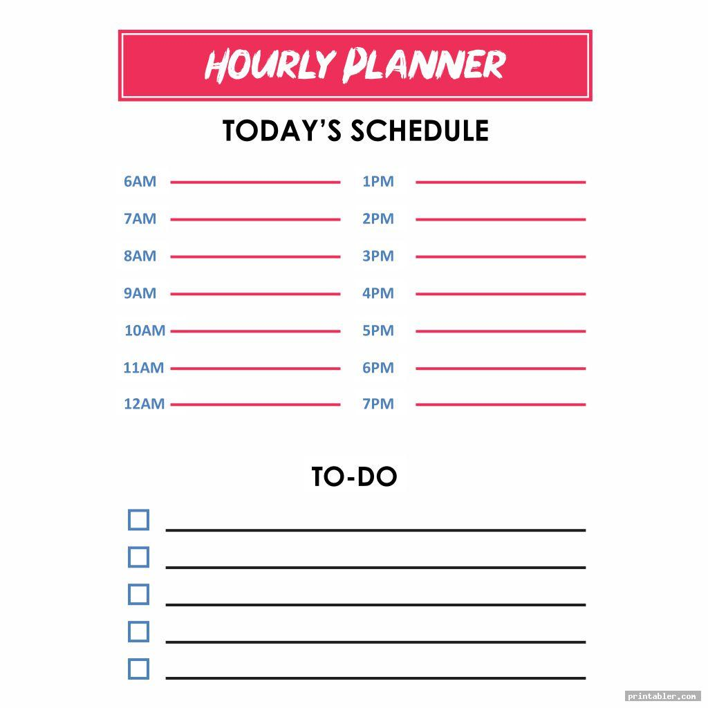 Hourly Day Planner Printable Pages