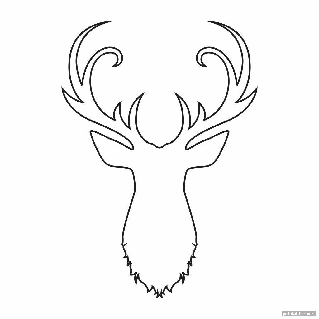 deer head stencil printable image free