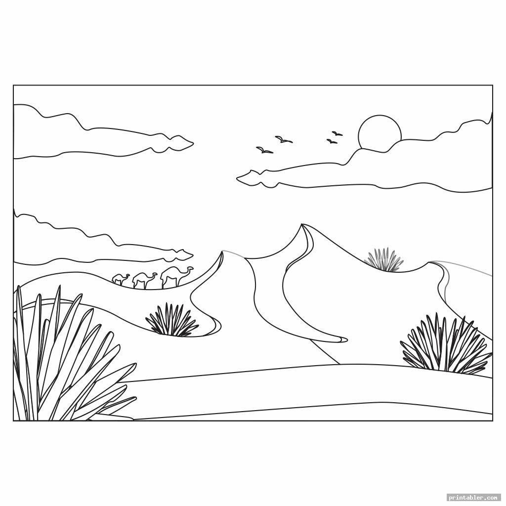 Desert Coloring Pages Printable