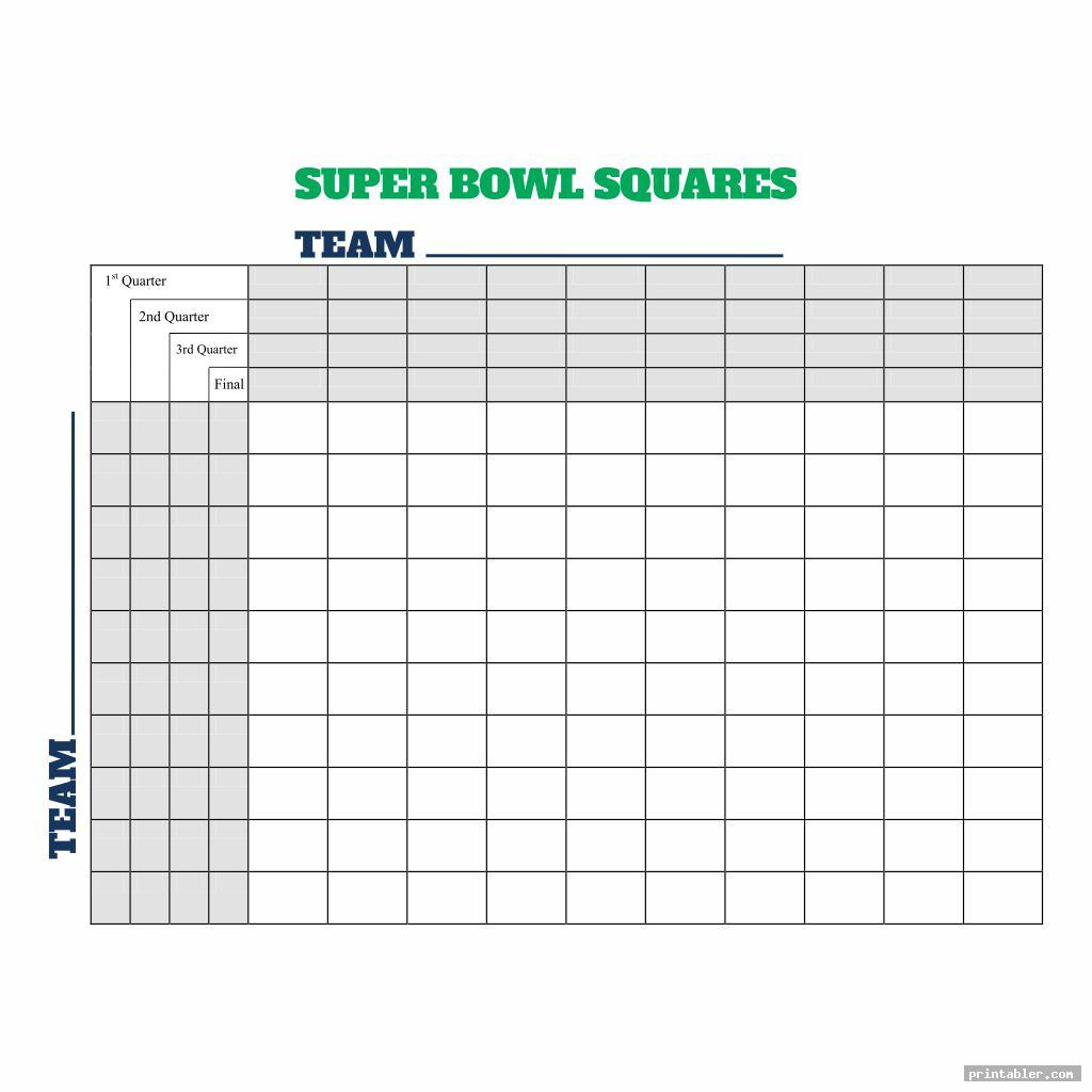 photo about Super Bowl Squares Printable named Tremendous Bowl Soccer Squares Printable -