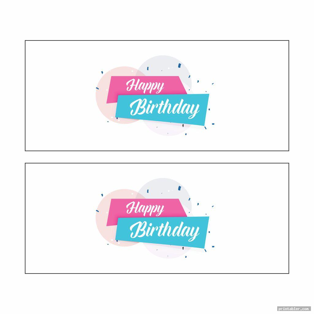 diy birthday banner printable template for use