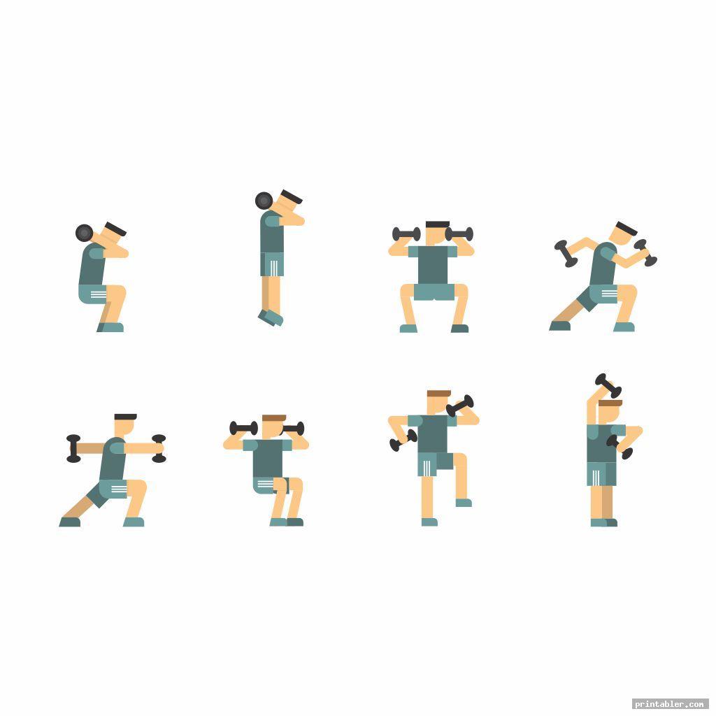 dumbbell exercises chart printable pdf image free