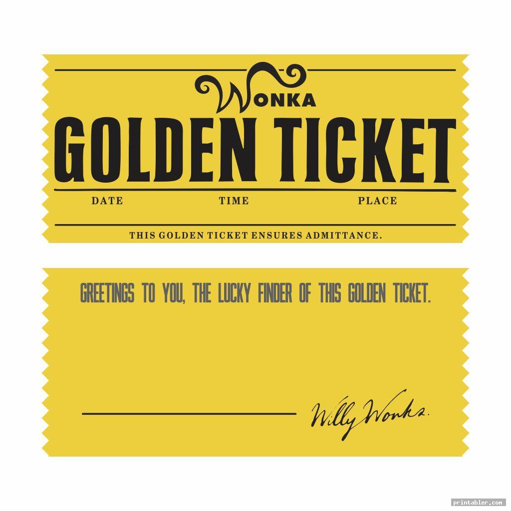 editable printable wonka golden ticket image free