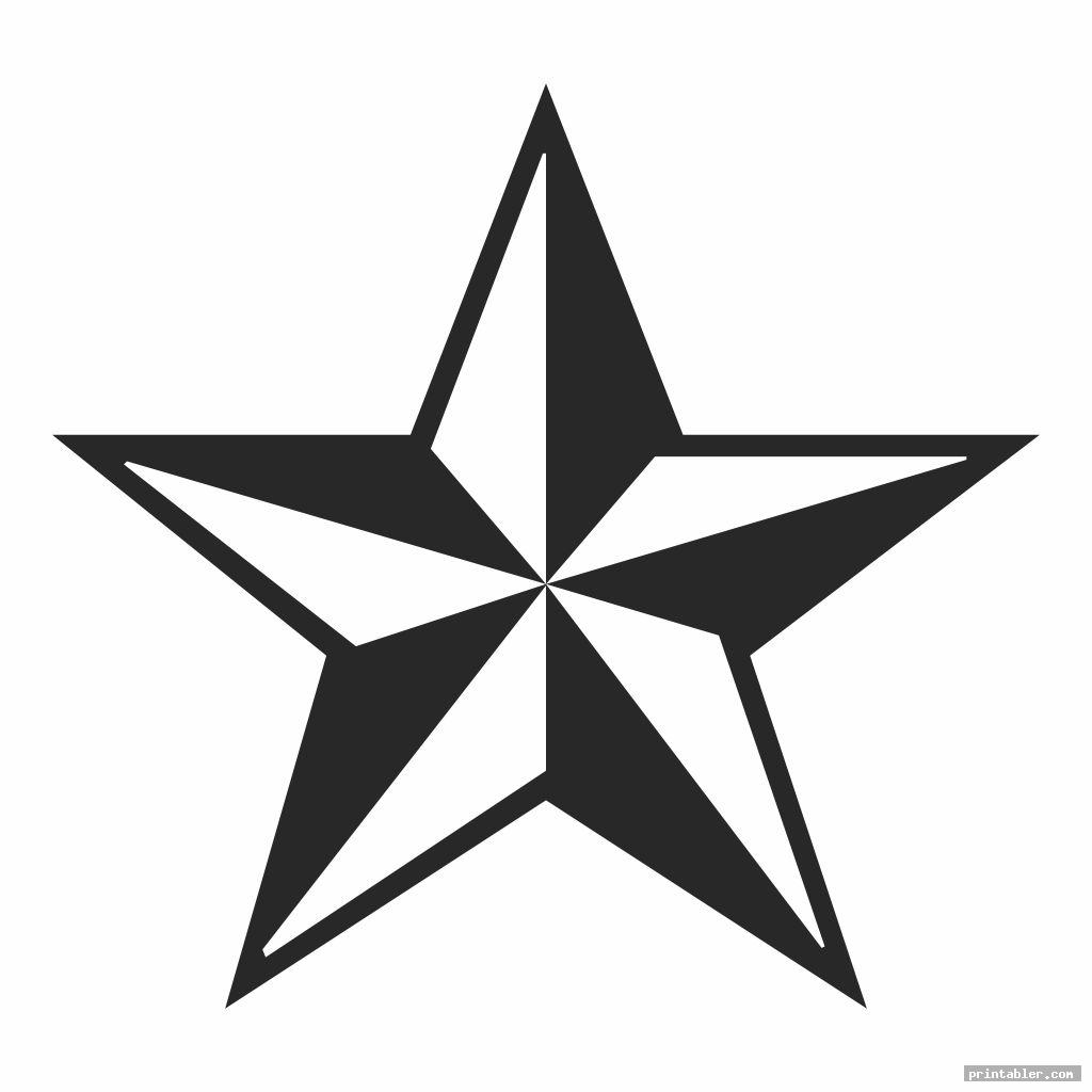 elegant big star template printable