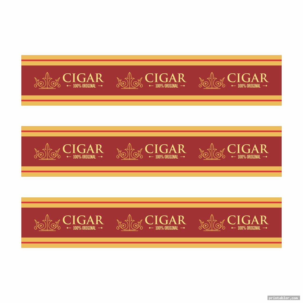elegant printable cigar labels