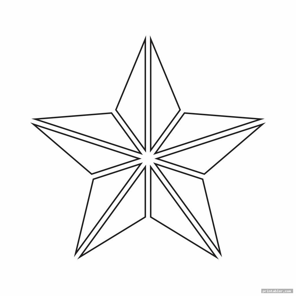 Printable Cut Out Star Shape