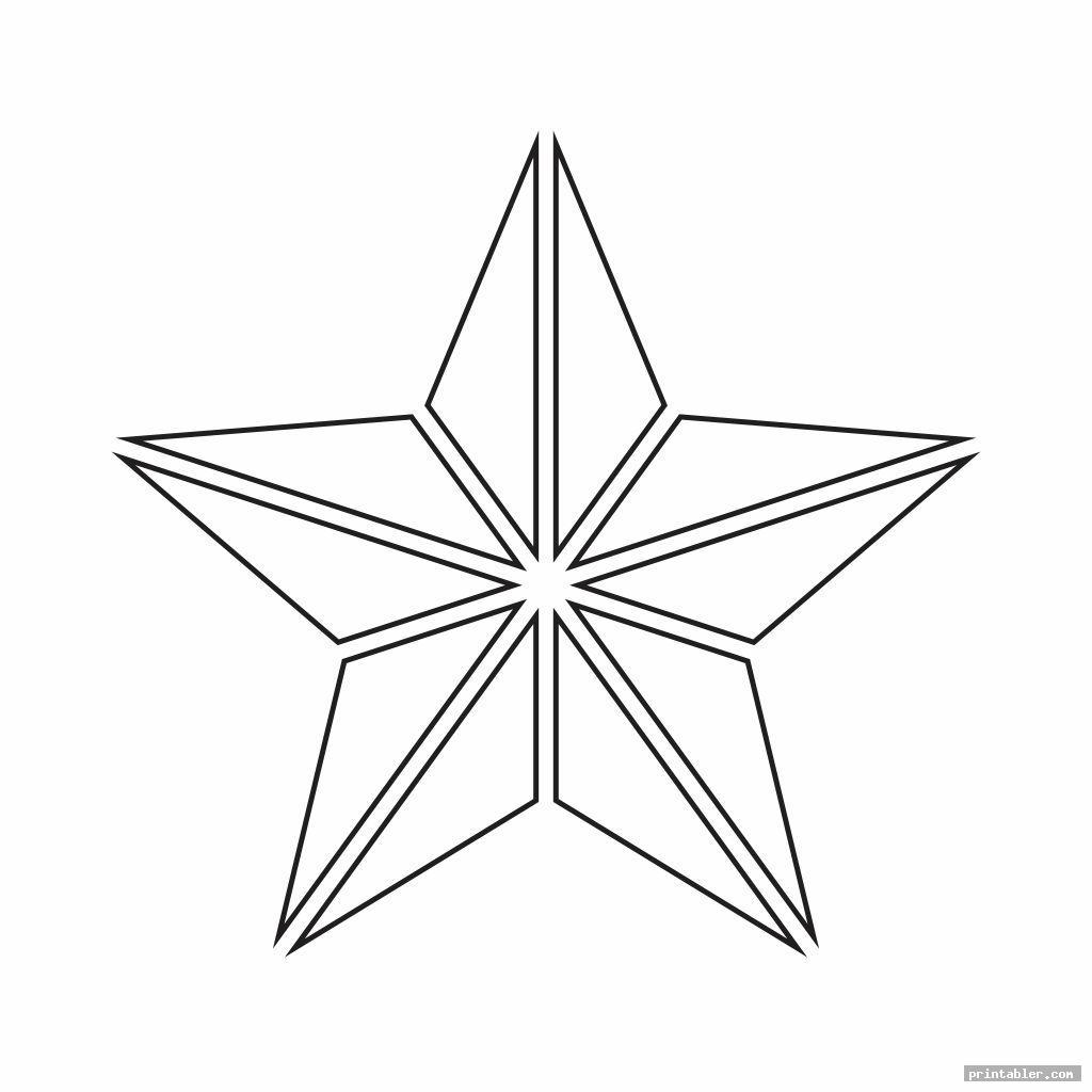 elegant printable cut out star shape