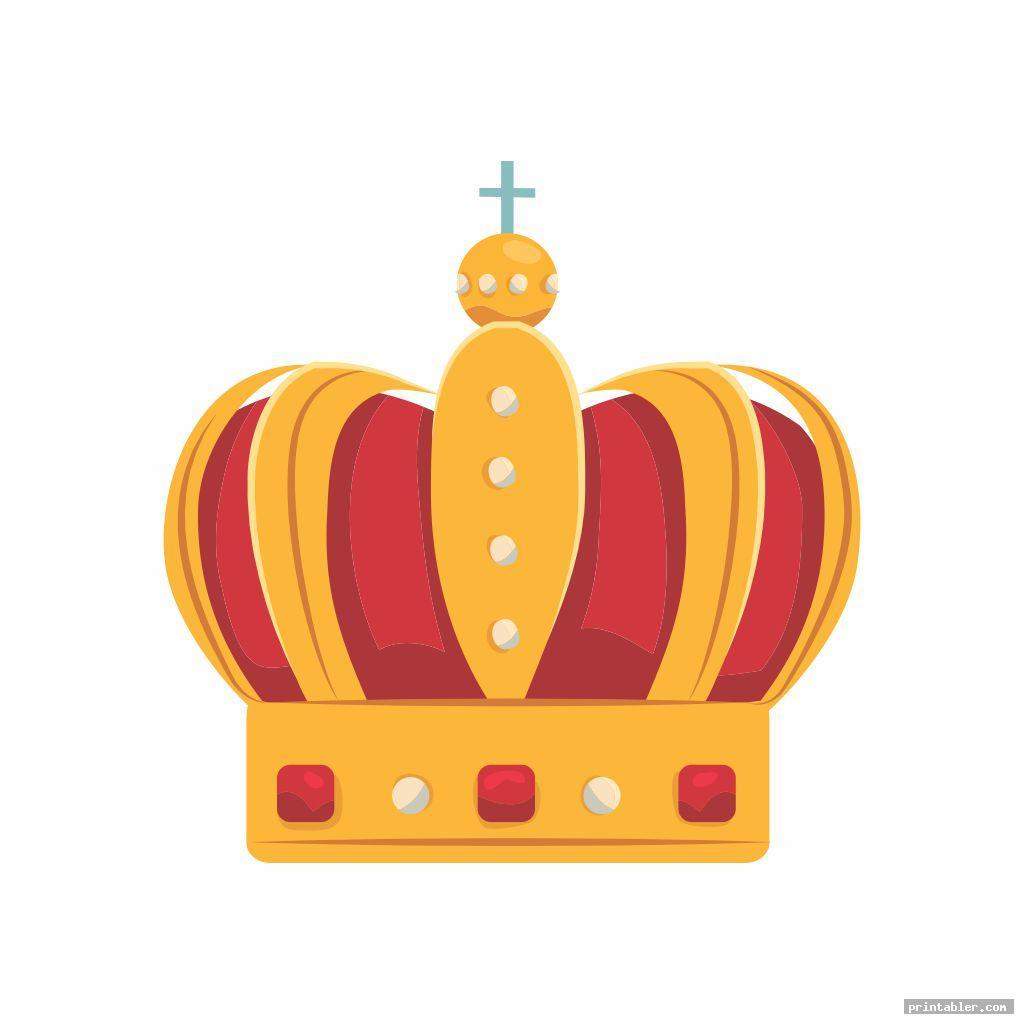 elegant printable king crown template