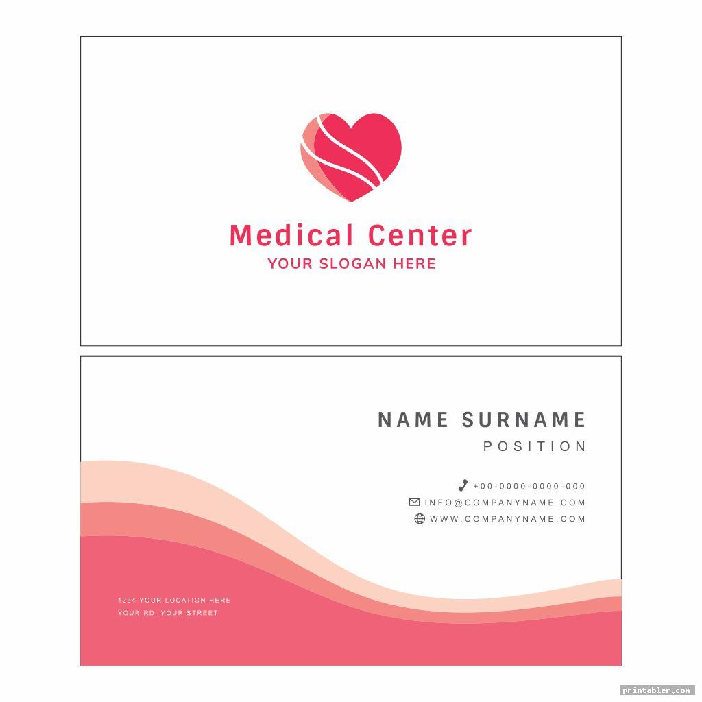 elegant printable medical cards