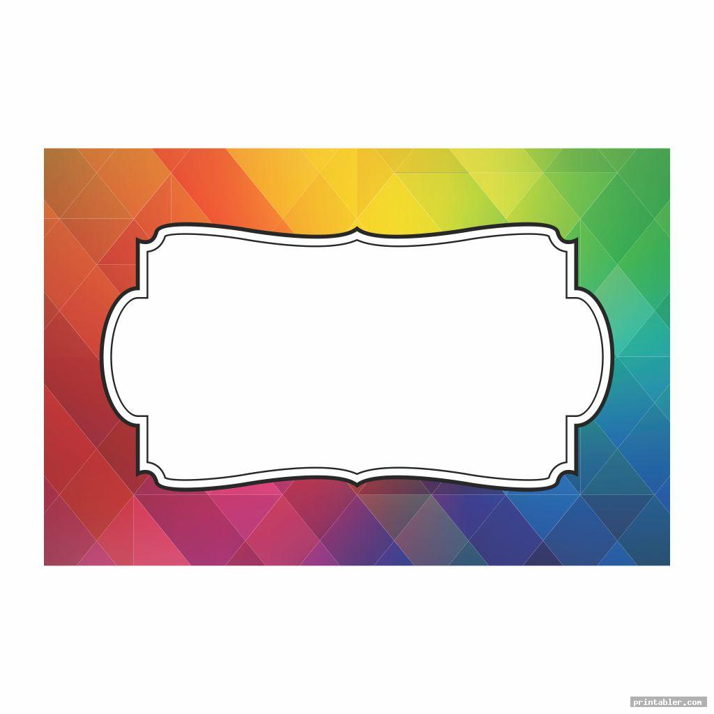 Printable Rainbow Labels