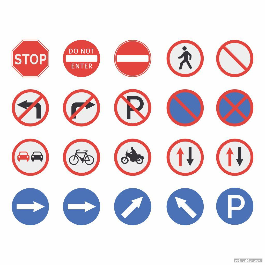 elegant traffic sign printables for preschoolers