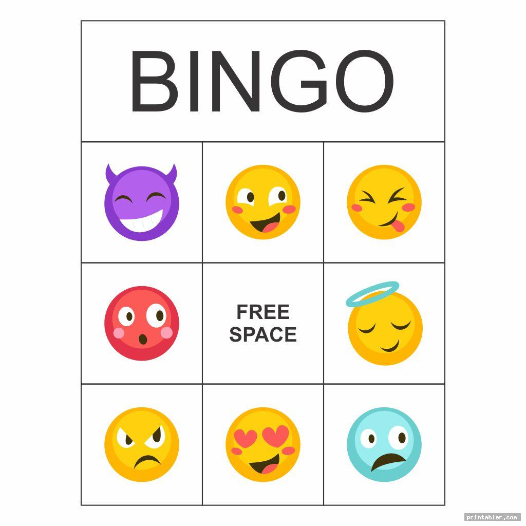 emotions bingo printable game image free