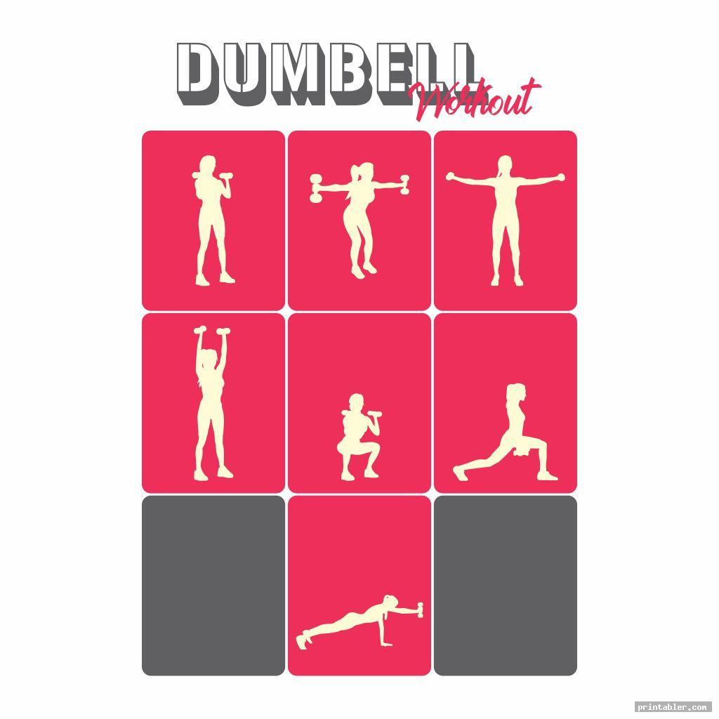 Printable Dumbbell Workout Poster