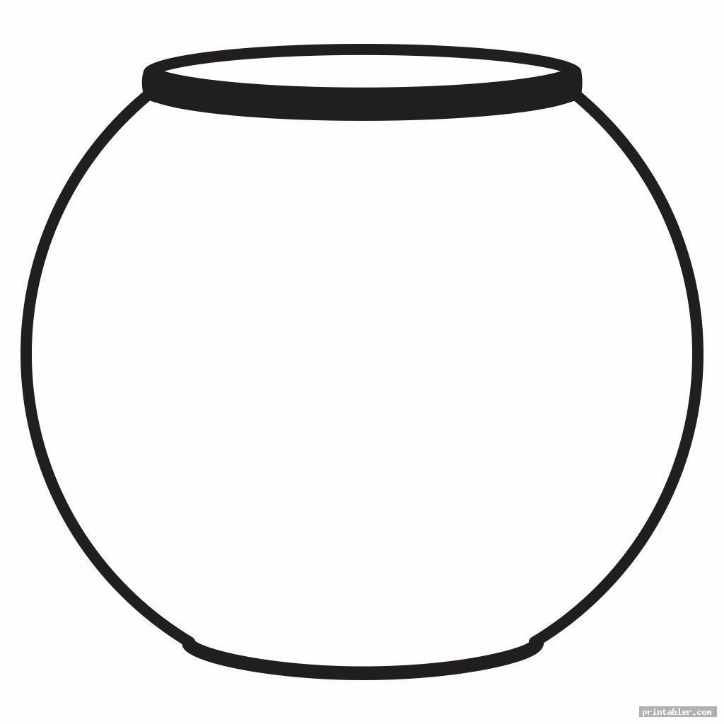 fish bowl template printable image free