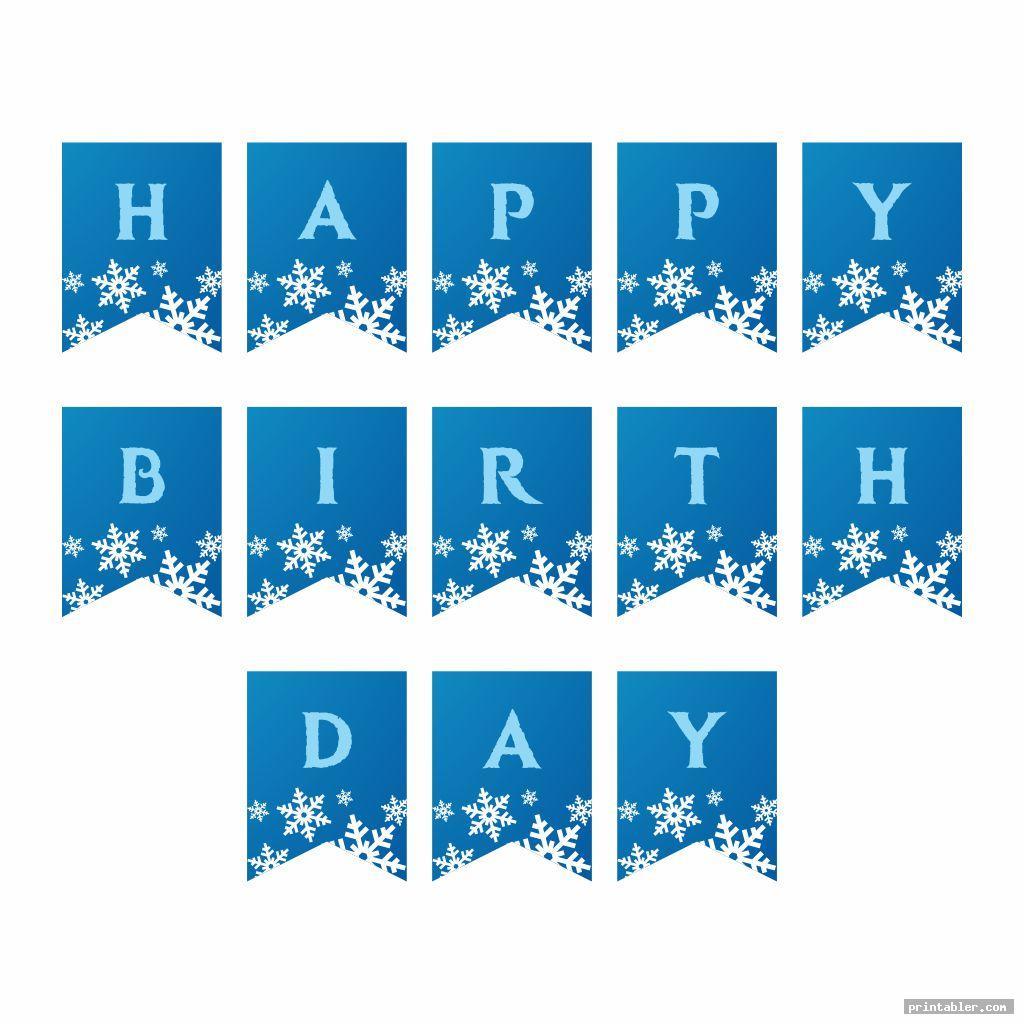 frozen birthday banner printable image free