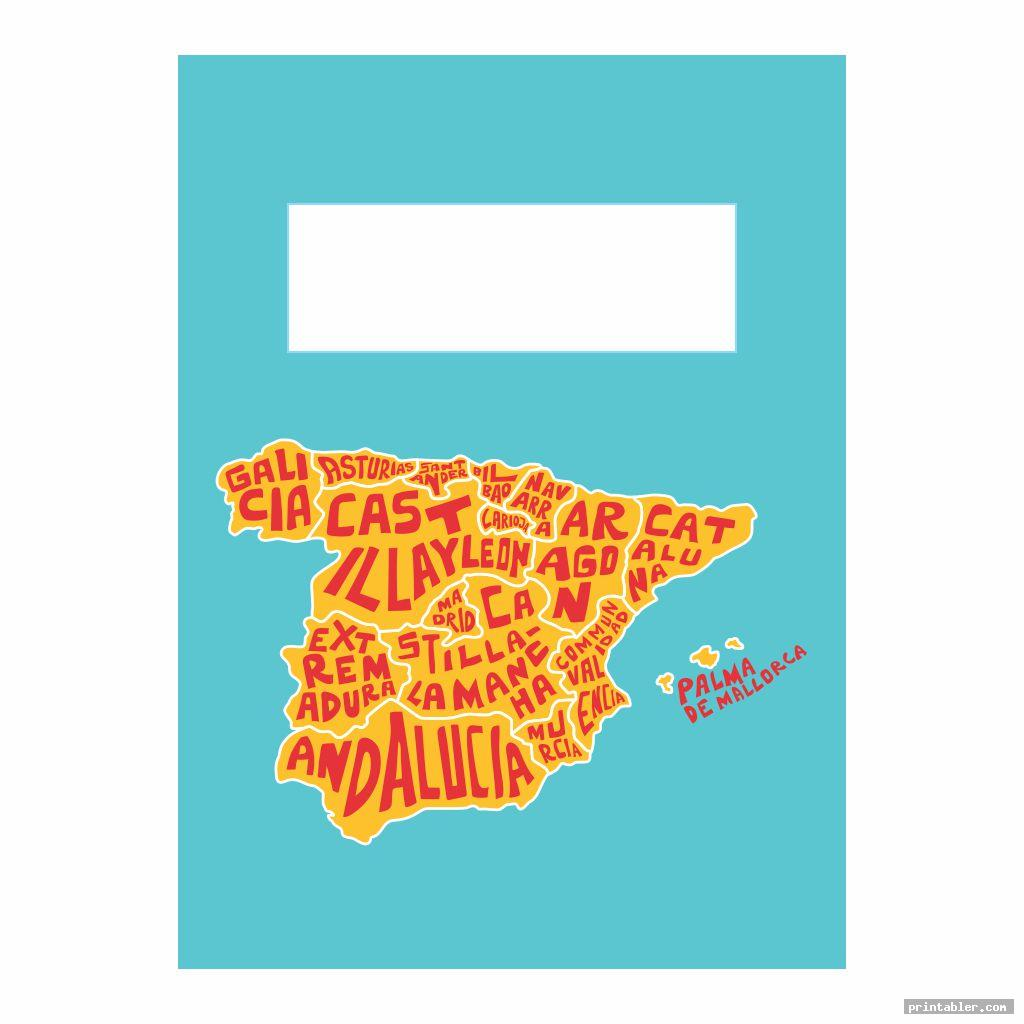 funky spanish printable binder covers for boys