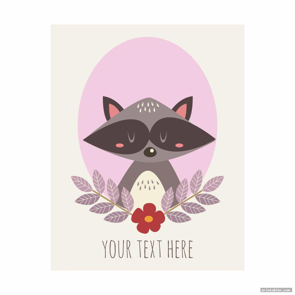 greeting card woodland animals party printables