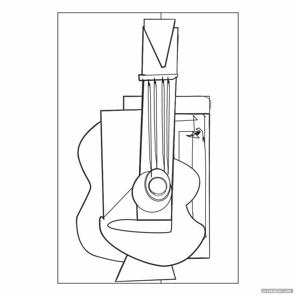 guitar picasso art coloring pages printable