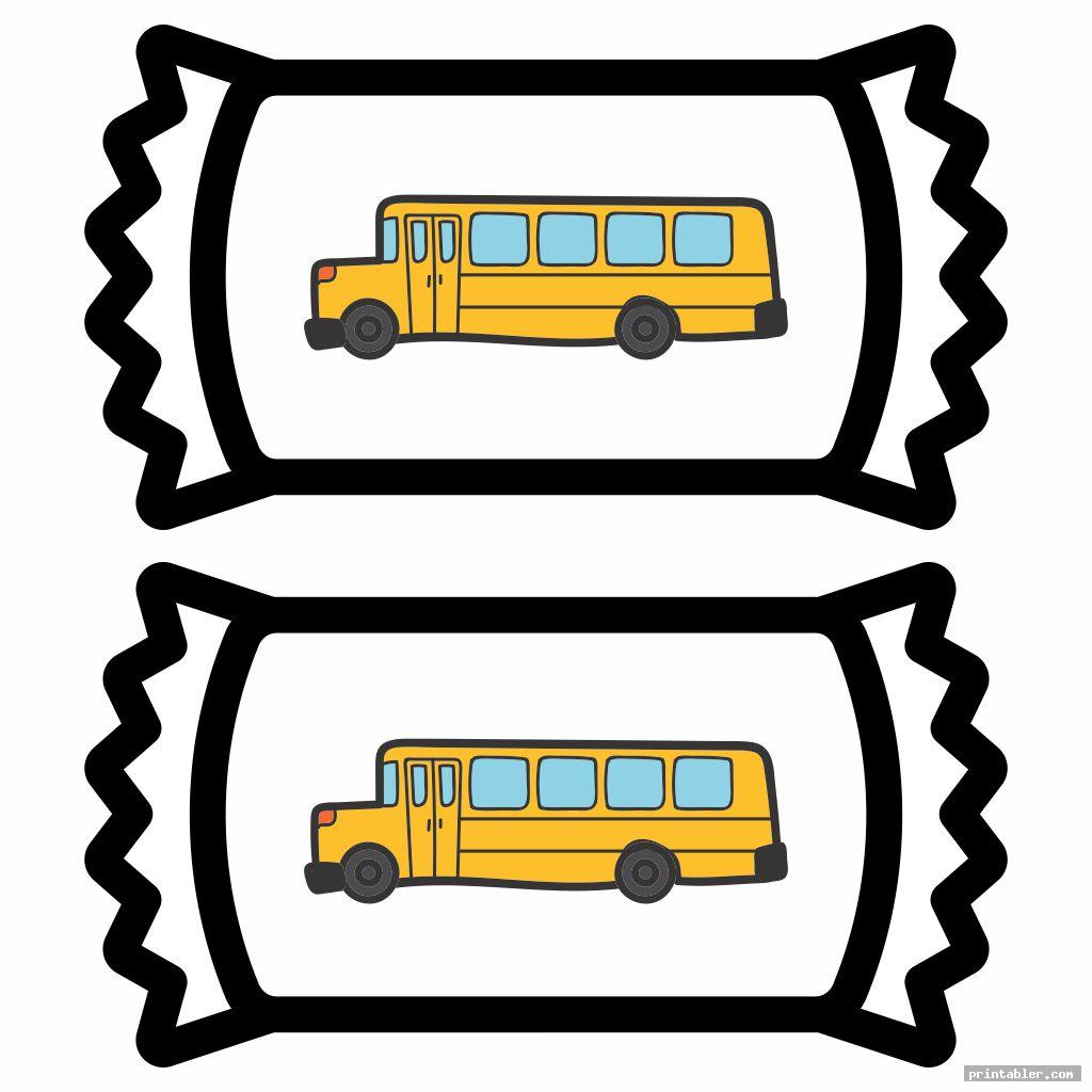 hershey bus printable candy bar wrapper template for use