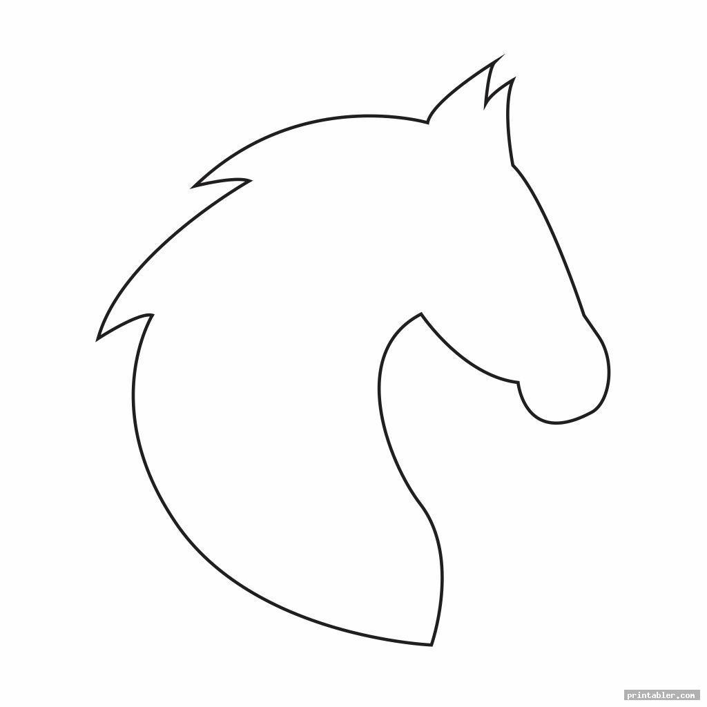 Horse Head Template Printable - Printabler.com