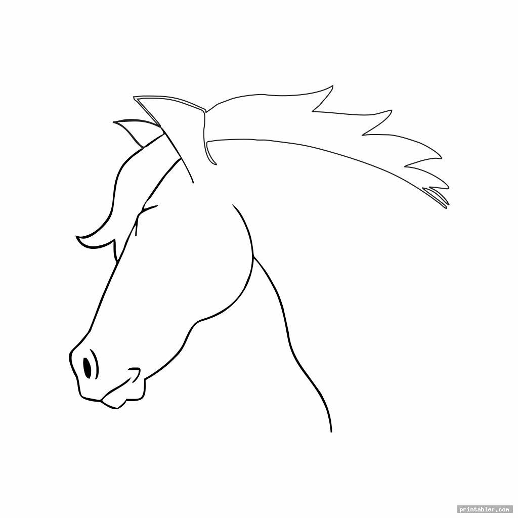 horse head template printable image free