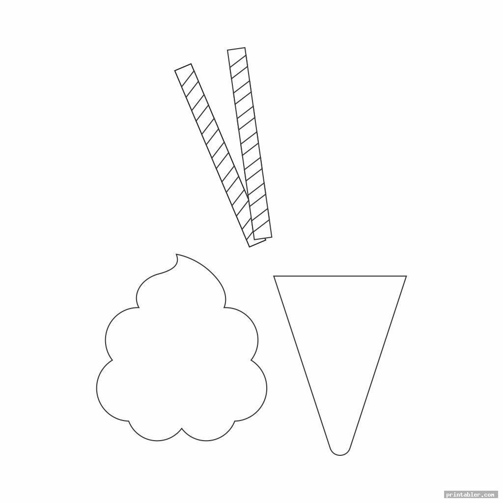 ice cream printable pattern image free