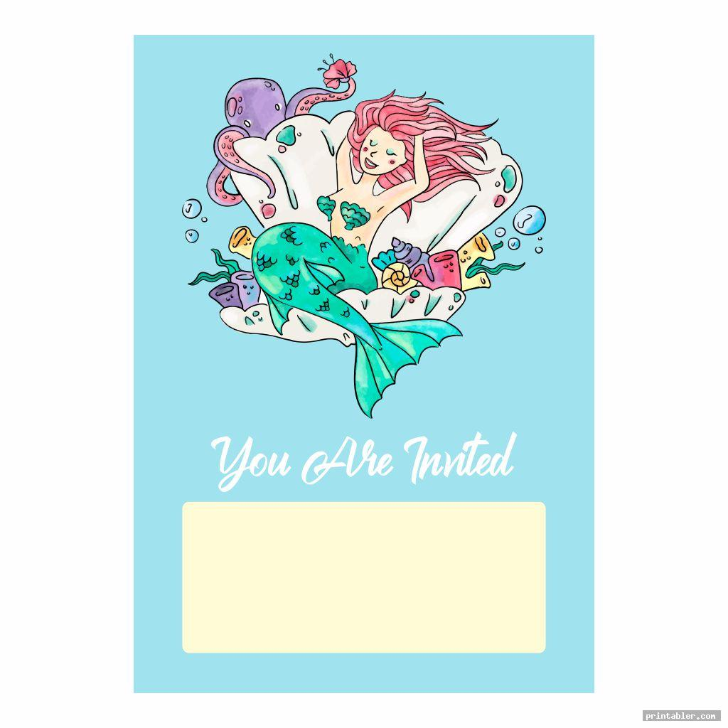 invitation ariel birthday printables
