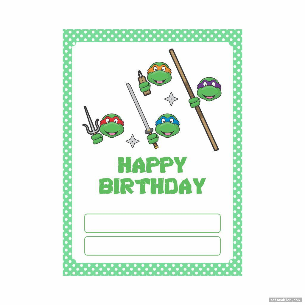 invitation ninja turtle happy birthday banner printable