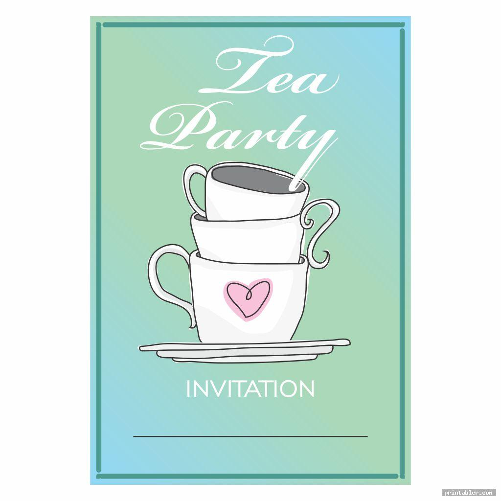 invitation tea party printables